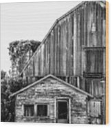 Route 66 Barn 1 Wood Print