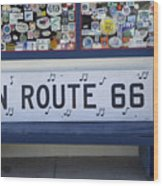 Route 66 Bench Wood Print