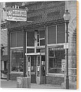 Route 66 - Chenoa Pharmacy Wood Print
