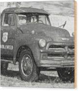 Route 66 Chevy Tumbleweed - #5 Wood Print