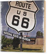 Route 66 Museum - Impressions Wood Print