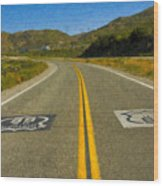 Route 66 National Historic Road Wood Print