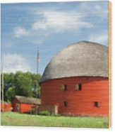 Route 66 Round Barn Wood Print