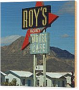 Route 66 - Roy's Of Amboy California 2 Wood Print
