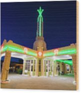 Route 66 Tower Conoco #2 Wood Print