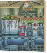 Route 66 Valentine Diner Wood Print