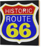 Route 66 Vintage Sign Wood Print