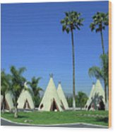 Route 66 - Wigwam Motel 4 Wood Print