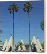 Route 66 - Wigwam Motel Ca Wood Print