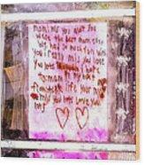 Route 91 Harvest Festival Memorial 21, A Child's Grief Wood Print
