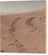Roving Across Mars 1 - Earth Light Wood Print