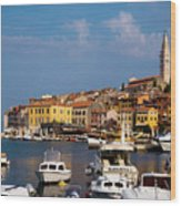 Rovinj Harbour Wood Print