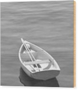 Row Boat Wood Print