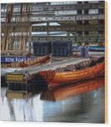 Row Boat Rental Wood Print