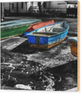 Row Boats At Mudeford Wood Print