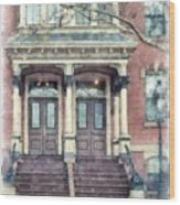 Row House Providence Rhode Island Wood Print