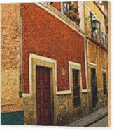 Row Of Casas Guanajuato Wood Print