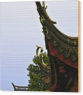 Row Of Chinese Rooftops Wood Print