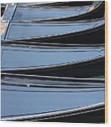 Row Of Gondolas In Venice Wood Print