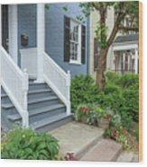 Row Of Historic Row Houses Wood Print