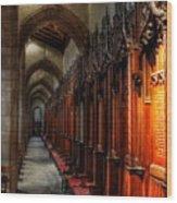 Row Of Thrones Wood Print