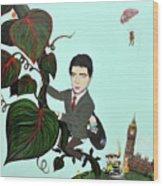 Rowan Atkinson Mr Beanstalk Wood Print