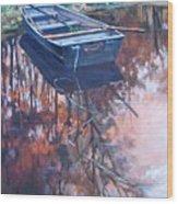 Rowboat Ashore Wood Print