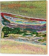 Rowboat Fluorescence 1 Wood Print