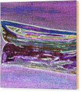 Rowboat Fluorescence 3 Wood Print