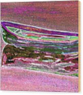Rowboat Fluorescence 4 Wood Print