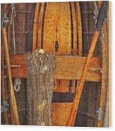 Rowboat Sandhamn Wood Print