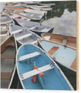 Rowboats In Quissett Harbor Wood Print