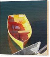 Rowboats In Rockport, Ma Wood Print