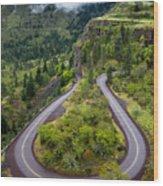 Rowena Crest Loops - Oregon Wood Print