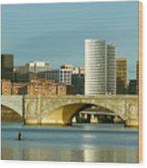 Rower On The Potomac River I Wood Print