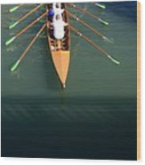 Rowers In Venice Wood Print