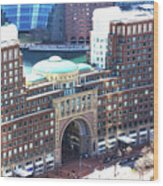 Rowes Wharf Building Wood Print