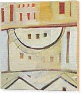 Rowhouse No. 1 Wood Print