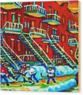 Rowhouses And Hockey Wood Print