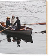 Rowing Boat Wood Print