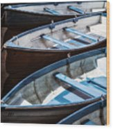 Rowing Boats Wood Print