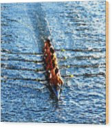 Rowing In Wood Print