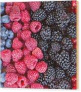 Rows Of  Berries  Wood Print