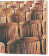 Rows Of Seats Wood Print