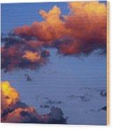 Roy-biv Clouds Wood Print