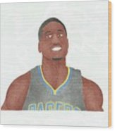 Roy Hibbert  Wood Print