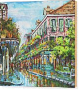 Royal At Pere Antoine Alley, New Orleans French Quarter Wood Print