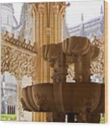Royal Cloister Of The Batalha Monastery Wood Print