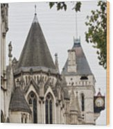 Royal Courts Of Justice Wood Print
