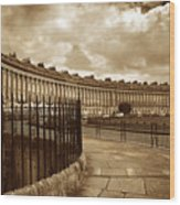 Royal Crescent Bath Somerset England Uk Wood Print